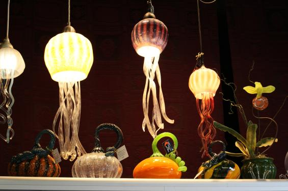 HMB art glass hanging lights