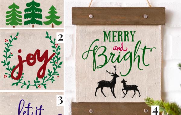 Holiday Canvas Banner Workshop