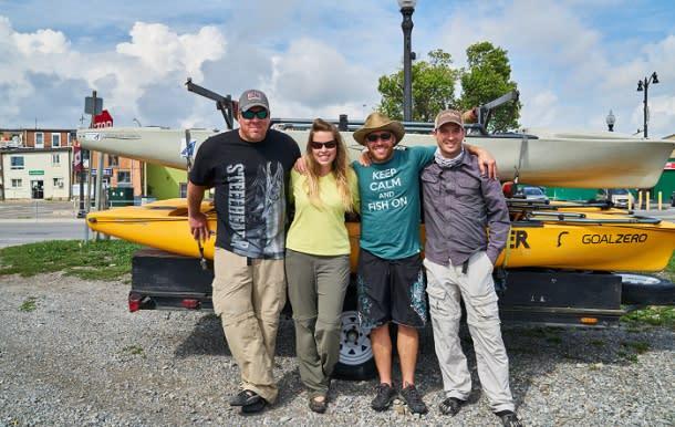 Group photo of fishing trip