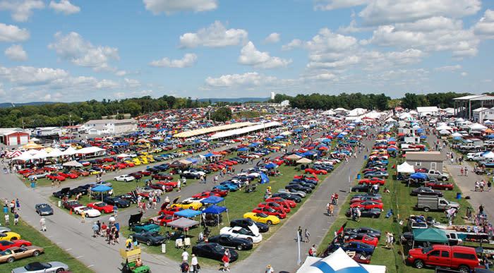 Overview of Corvette Show
