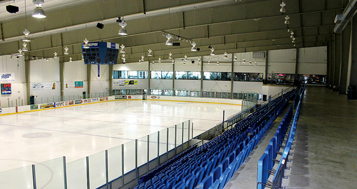 View of the rink at Wichita Ice Center