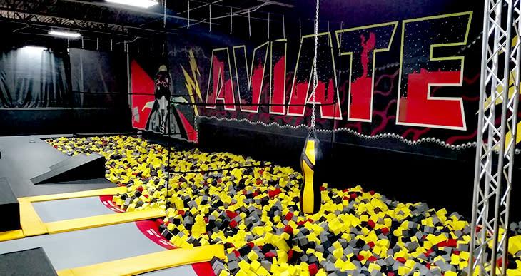 The foam pit at Wichita Sports Forum