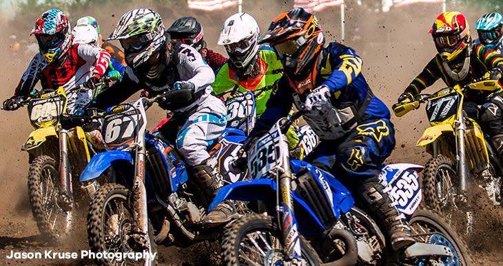 Motocross riders racing at Bar2Bar Outdoor Family Fun