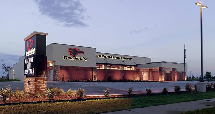 Thunderbird Firearms Academy shooting range building