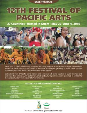 12th Festival of Pacific Arts flyer