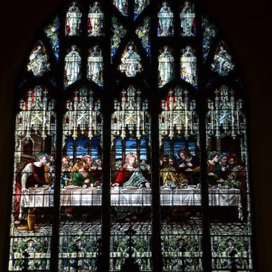 Stain Glass at the Parish Church of St. Luke