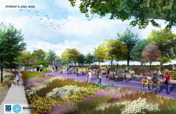 PNC Playground Rendering in Fort Wayne, Indiana at Promenade Park