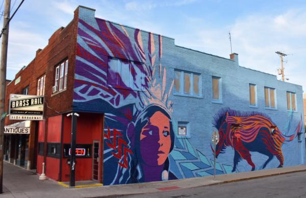 Wild Boar Mural - Brass Rail - Fort Wayne, IN
