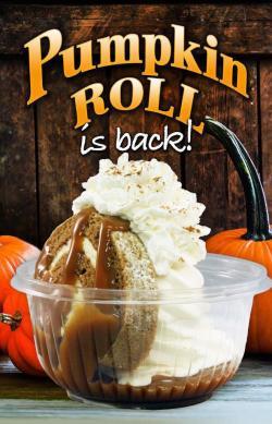 Chiller's pumpkin roll sundae