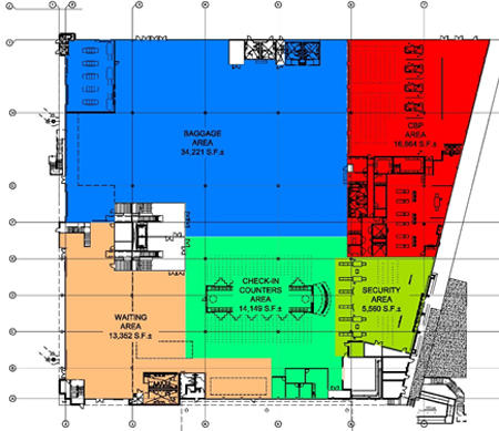 Map of Terminal 4 first floor layout