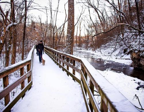 Hayden Run Falls Walkway
