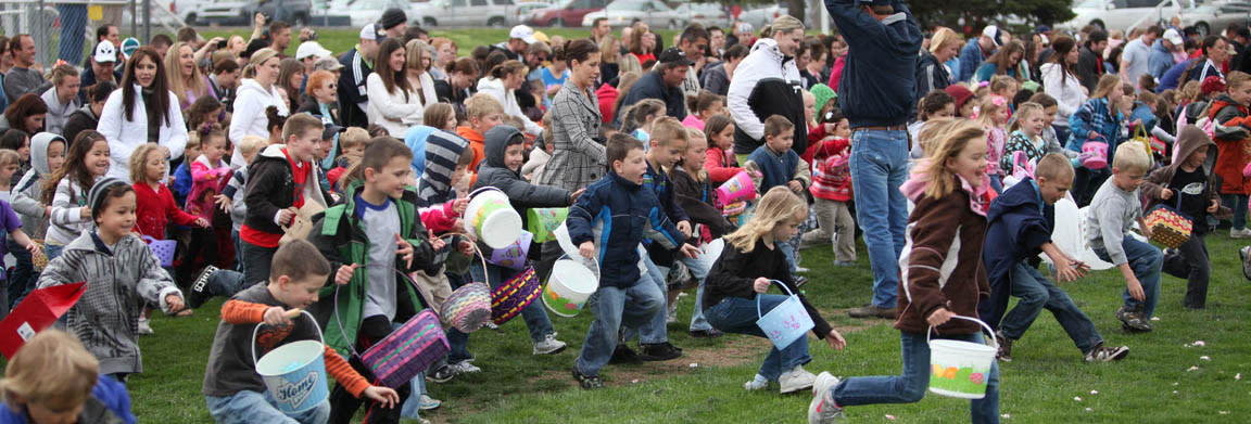 Easter in Utah Valley - get those eggs!