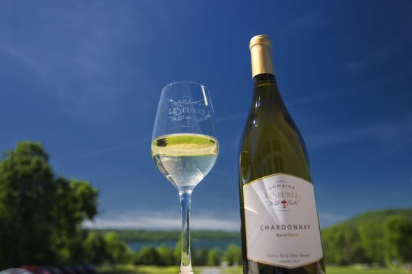 Domaine Leseurre wine - photo by Stu Gallagher