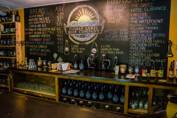 Finger Lakes Beer Company tap line