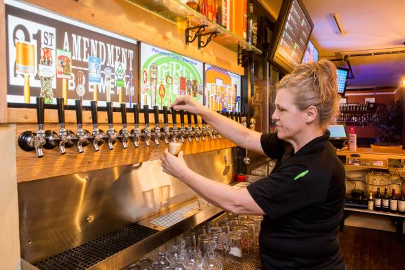 Careys Brew House tap line