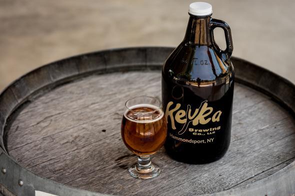 Keuka Brewing growler