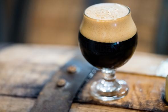 Steuben beer on barrel
