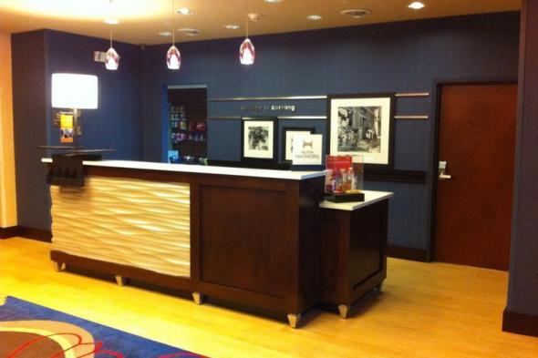 new Hampton Inn lobby