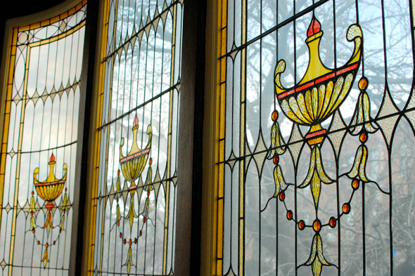 Tiffany Windows at Montour Falls Library