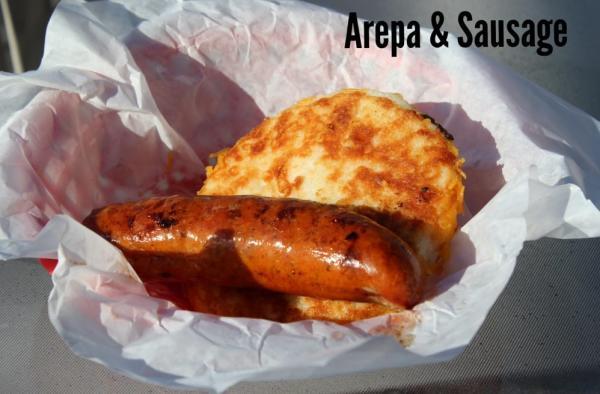 Arepas and Sausage
