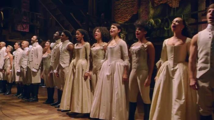 """Performers in """"Hamilton"""" at Broadway in Chicago"""