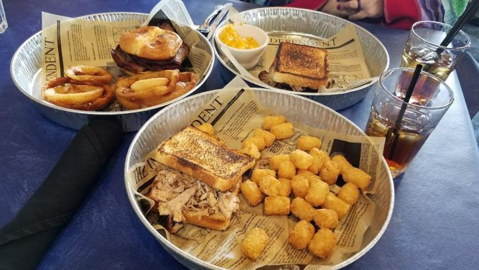 A sampling of sandwiches from Holy Smoke Hog Roast Company in Martinsville.
