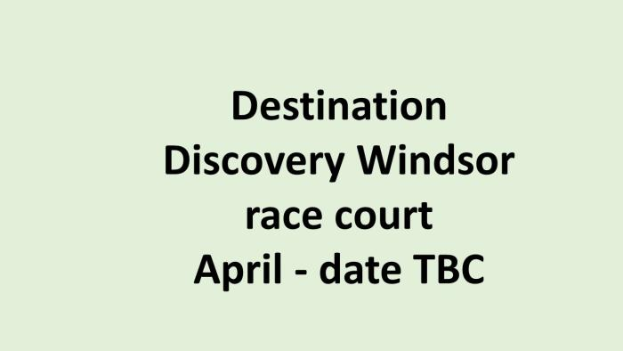 UK Destination Discovery Windson race
