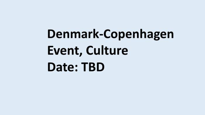 Denmarl culture event 2020