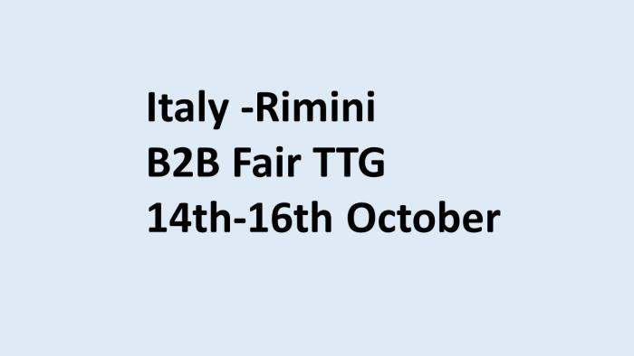 Italy b2b fair TTG 2020