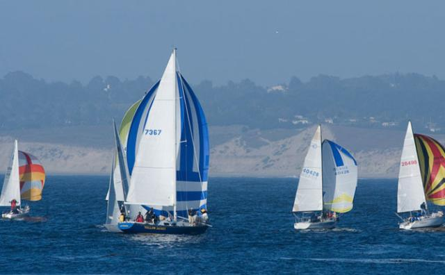 Sail Boats on Monterey bay