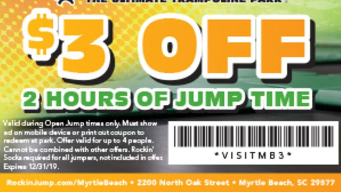 Rockin Jump 3 Off 2 Hours Of Jump Time