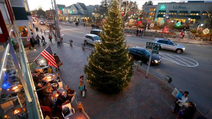 visit freeports sparkle celebration - Moose Apple Christmas Tree Farm