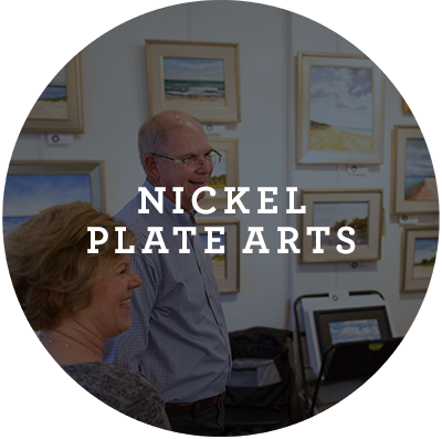 Nickel Plate Arts Button