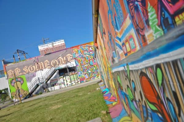 Graffiti Park in EaDo Houston