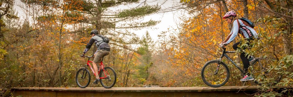 Fall Outdoor Bike Riding