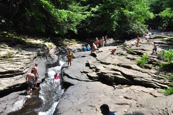 Natural-Water-Slide-at-Meadow-Run-Ohiopyle-State-Park
