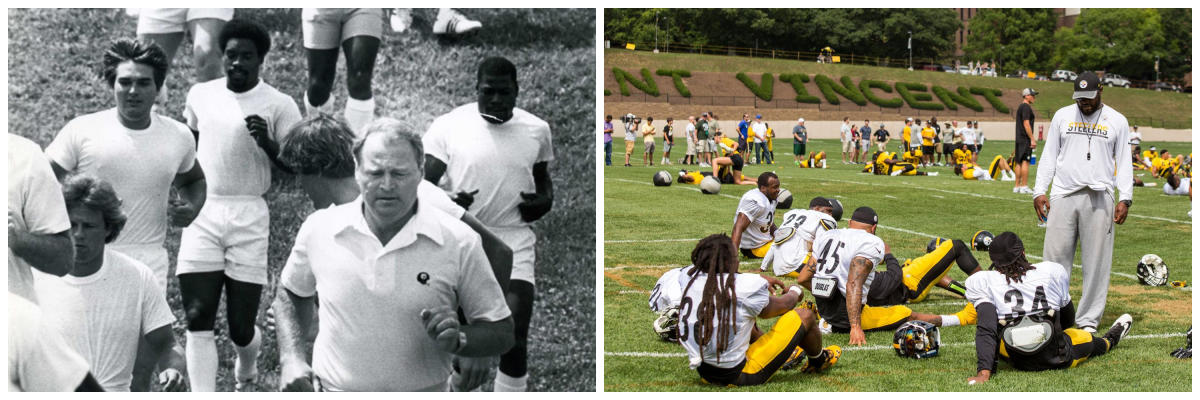 Steelers Training Camp Then and Now