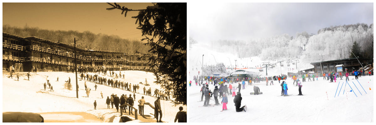 Seven Springs Then and Now