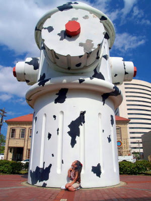 Giant Dalmation Hydrant in Beaumont