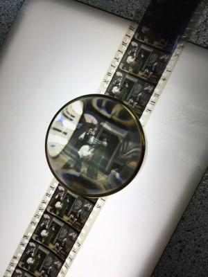 close up of nitrate film at the George Eastman Musuem in Rochester, NY