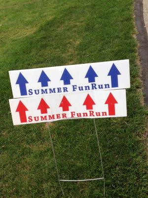 Fun Run Series course signs.