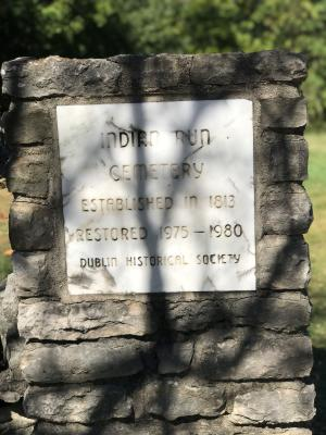 Indian Run Cemetery Sign