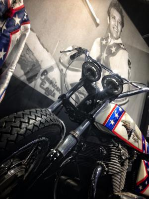 Evel Knievel Motorcycle and Suit