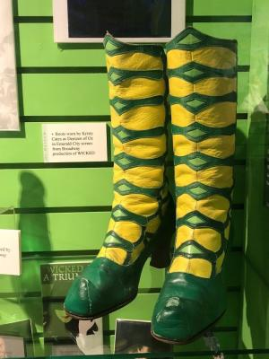 Original boots from the Broadway production of WICKED (Oz Museum)