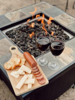 White Tail Run Winery Patio Fire & Charcuterie Board in Edgerton, KS