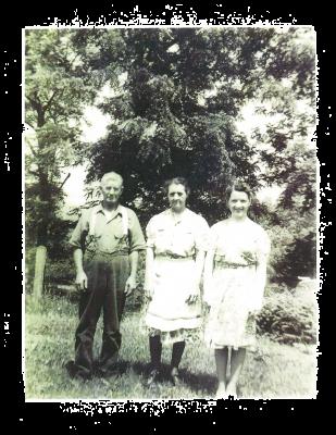 Helen Davis with Her Parents