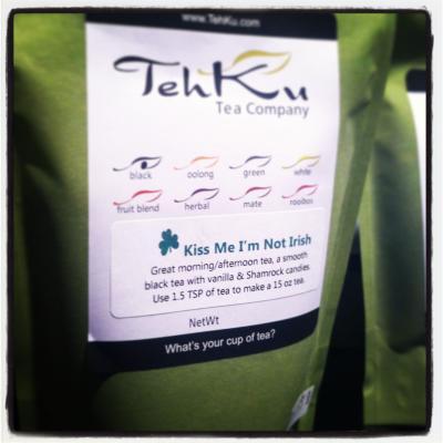 """Tehku Tea """"Kiss Me I'm Not Irish"""""""