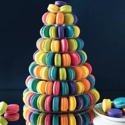 Macaron tower from Savor Patisserie