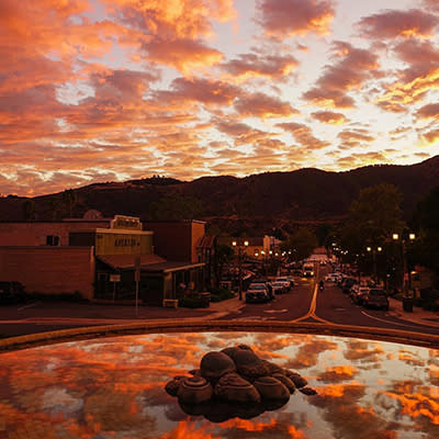Sunset in Old Town Temecula