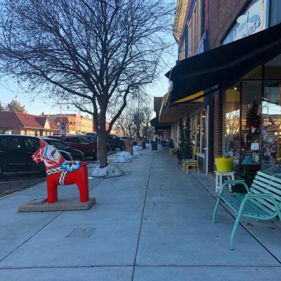 Lindsborg Sidewalk - Rebekah Baughman Blog